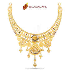 Custom Jewelry Necklace Design Gold Enamel Necklace From Thangamayil Jewellery Jewelry