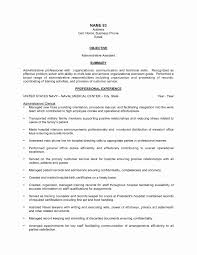 Administrative Assistant Resume Templates Elegant Resume For Admin
