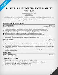 Gallery Of Business Administration Resume Samples Sample Resumes