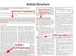 sciences librarian training biochemistry b how to info  article structure<br