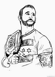 Wwe Coloring Pages Rey Mysterio Coloring4free Coloring4freecom