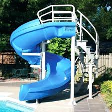 in ground pools with slides. Above Ground Swimming Pool Slide Round Designs In Pools With Slides L