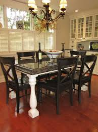 Kitchen Granite Table Buffet Hummmm Maybe Do This With My Table