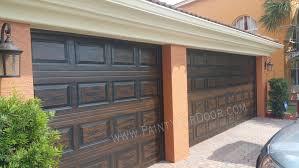 Wood Grain Faux Painted Garage Doors - Beth the Door Diva, Wood ...