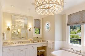 hanging bathroom lighting. large bathroom lighting contemporary hanging on top plus two wall sconces over the mirror in a with white furniture sets bathtub e