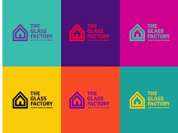 the glass factory logo branding