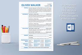 Resume Template Instant Download Cv Template Professional