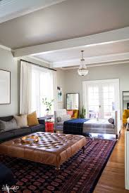 how big should rug be in living room new laura s living room addressing the form