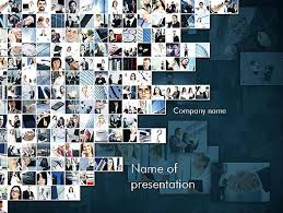 photo collage template powerpoint business in action collage powerpoint template backgrounds 11339