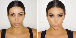 kim k contour your face