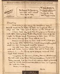 v mail from lt harding to his father