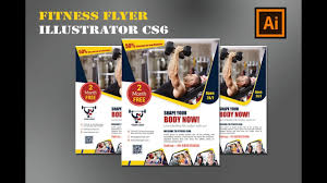 Fitness Flyer Design | Gym Flyer Design | Illustrator Tutorial Cs6 ...