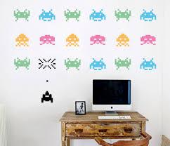 Designer Wall Art Space Invaders Your Decal Shop Nz Designer Wall Art Decals