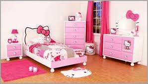 hello kitty bedroom furniture. this one is a complete hello kitty furniture set for kids having drawer chest vanity table with silhouette mirror headboard bed and bedroom d
