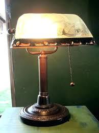 restoration hardware library task table lamp green vintage brass bankers desk students banker shade best of