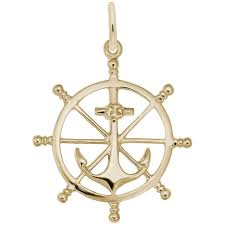 rembrandt charms ship wheel charm stock 1584