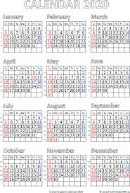 2020 calendar free template calendar 2020 printable uk free printable pdf
