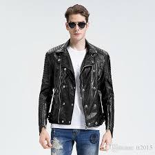 2018 fall winter jacket men black leather jacket skull rock rivet sheepskin coat punk genuine leather mens motorcycle jacket from tt2016 154 79 dhgate