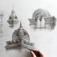 modern architectural sketches. Perfect Architectural Gareeva Is Currently Studying At The Kazan State University Of Architecture  And Engineering You Can See More Her Technical Drawings Sketchbook  Inside Modern Architectural Sketches O