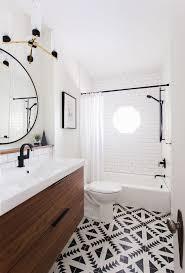Patterned Floor Tiles Bathroom Small Bathroom Design Patterned Floor Vanity Black Detail