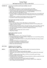 Software Support Analyst Resume Samples Velvet Jobs