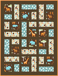 Kid And Baby Quilt Patterns Fons Porter Checks ~ loversiq & Its A Cuddle Jungle Out There E2 80 93 Sewciety My Corner Menageriepattern.  baby girl ... Adamdwight.com