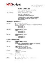 a - Spanish Resume Samples