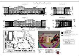 Дипломный проект ПГС торговый центр Фасады генплан экспликация зданий