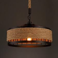 trendy ms 04 nordic hemp rope chandelier dangling lamp pendant light fixtures home decor