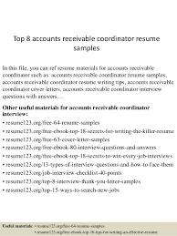 Accounts Receivable Coordinator Cover Letter Sarahepps Com