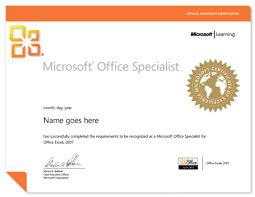 Microsoft Office Specialist Mos Exam Authorized Testing Center In