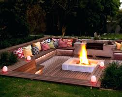 fire pit seating ideas diy wall cost