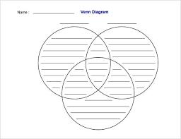 Printable Venn Diagram Template Free Printable Venn Diagram Template With Lines Download
