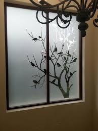 Sandblast Glass Designs Gallery Hp Sandblast Birds In A Tree Design Glass Etching Designs