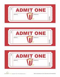 Movie Ticket Template Printable Movie Night Ticket Template
