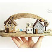 'Дворик' Ключница-<b>вешалка настенная</b>, домик деревянный ...