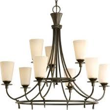 progress lighting fiorentino collection forged bronze. cantata collection 9-light forged bronze chandelier with shade · progress lighting fiorentino p