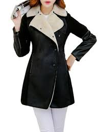 very black coats faux awesome lapel over fur patchwork faux fur overcoat long long sleeve collar ck665355 for women