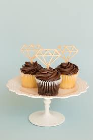 Diy Diamond Cupcake Toppers With Cricut Chipboard Coastal Bride