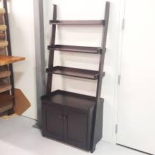 ladder shelf wall with storage amish