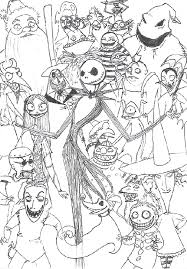 Nightmare Before Christmas Characters Coloring The Nightmare
