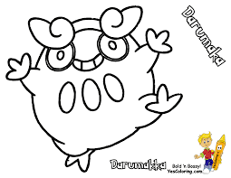 Small Picture pokemon sandile Colouring Pages in Pokemon Coloring Pages Darumaka
