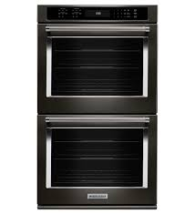 kitchenaid 27 double wall oven true convection black slight imperfections