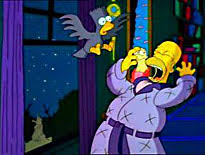 OAFE  The Simpsons The Raven Toy Scene ReviewSimpsons Treehouse Of Horror Raven