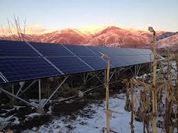 picture of 6 3 kilowatt ground mount home solar array