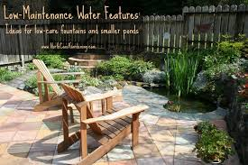 low maintenance water features