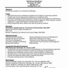 Resume For Fast Food Cashier Sample Resume Cook Fast Food Restaurant Valid Fast Food Cashier
