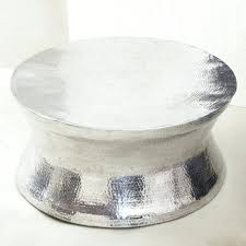 silver coffee tables top captivating hammered metal coffee table with metallic coffee table regarding silver round