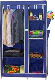 cbeeso portable wardrobe cb260 rolling up design in navy blue colour 2 years warranty wardrobes