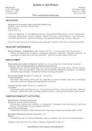 Undergraduate College Resume Template Resume For Undergraduate Student Joefitnessstore Com